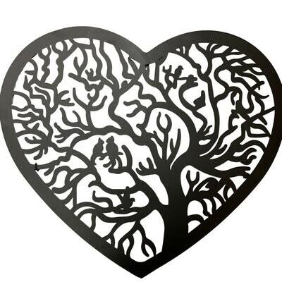 Metal Wall Art Heart Tree of Life