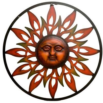 Metal Wall Art Copper Sun
