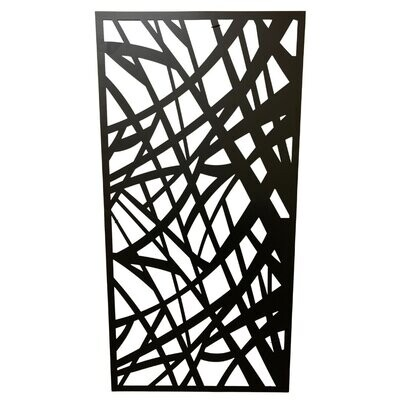 Metal Wall Panel Abstract Lines