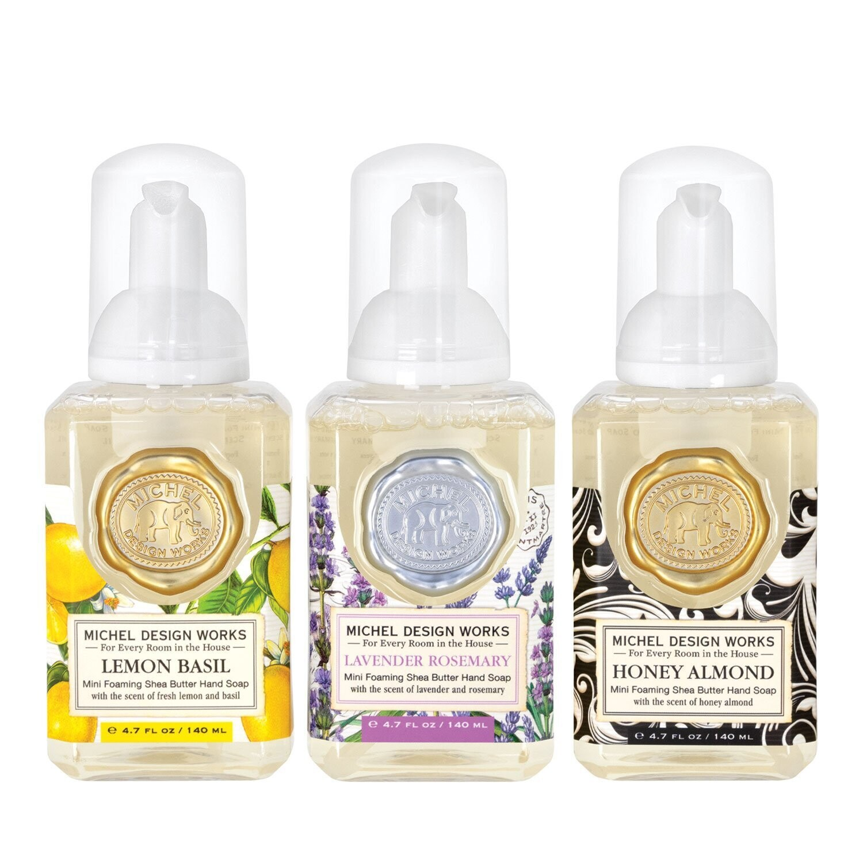 Mini Foaming Soap Set Lavender, Rosemary Lemon Basil