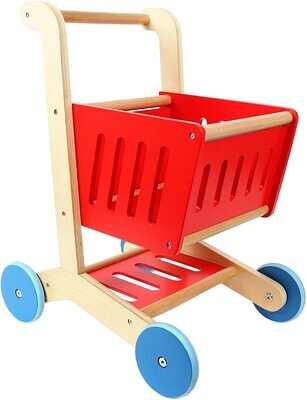 Tooky Toy Wooden Shopping Cart