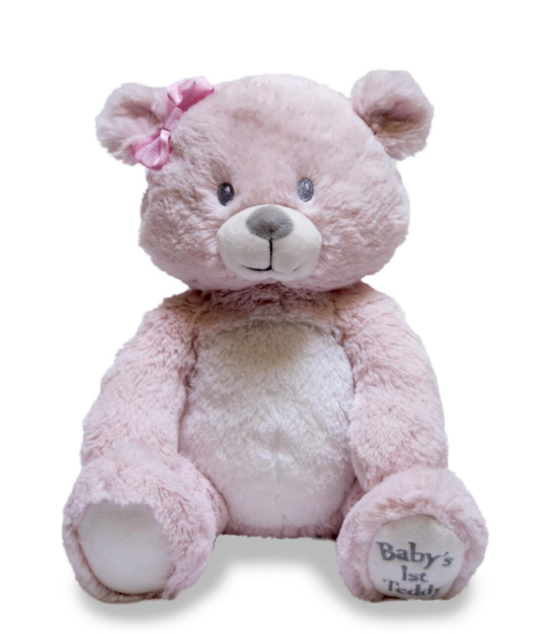 First Lullaby Teddie Pink