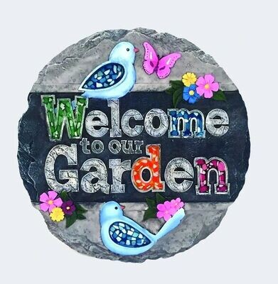Stepping Stone Welcome to Garden