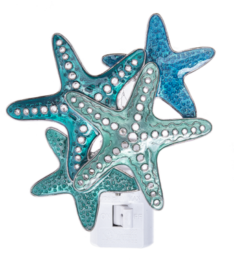 Night Light Blue Starfish