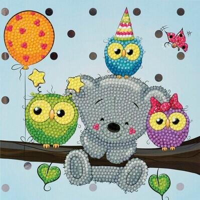 Crystal Art Card Kit Birthday Friends