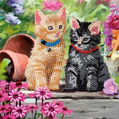 Crystal Art Card Kit Cat Friends