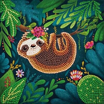 Crystal Art Card Kit Sloth