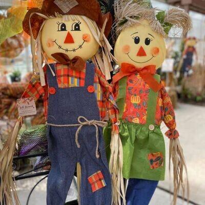 Harvest Scarecrow on Stick 5'
