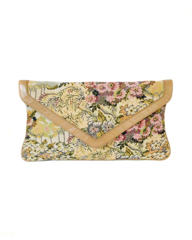 White or Black Pattern Details about  /VINTAGE Venetian Floral Tapestry Evening Purse  CHOOSE