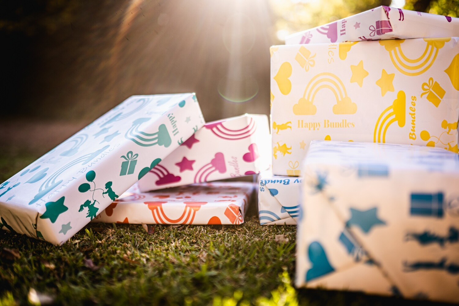 Rainbow Wrapping Paper Bundle