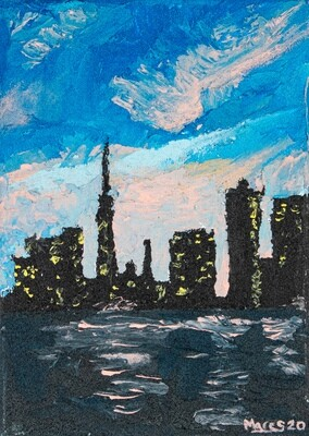 Textured Abstract Cityscape
