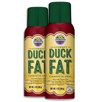 Gourmet Duck Fat Spray 2 Cans (7 Ounce Each) - Free Shipping