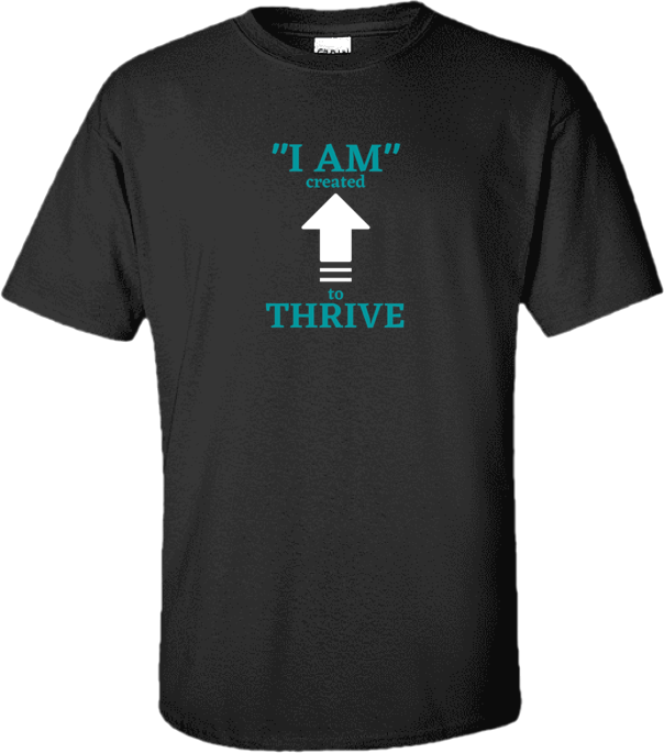 Charcoal Gray Thrive T-shirt