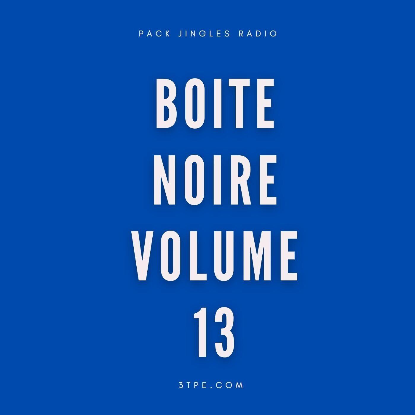 Pack jingles radio Boite noire numéro 13