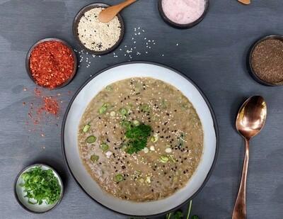 Mung Bean Sweet potato and Leek soup
