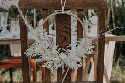Kranz aus Trockenblumen - 20 cm