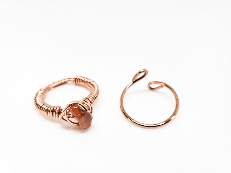 Two Ring Set - Single Stone Ring & Band