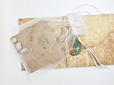 Character Inspired Amulet & Chain Necklace, Free Letter Inspired From Desired Character & Extras