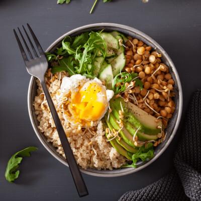 SAMPLE. Quinoa & egg bowl