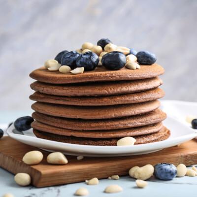SAMPLE. Сhocolate pancakes with cranberries