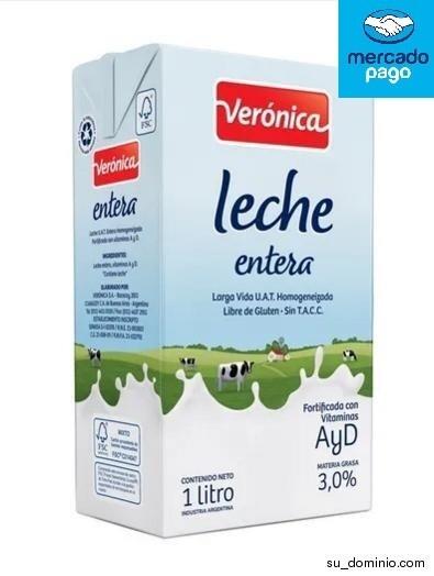 LECHE ENTERA LARGA VIDA X 1LT VERONICA