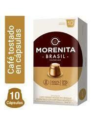 CAPSULAS DE CAFE LA MORENITA -BRASIL- X 10 UNIDADES.