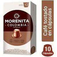 CAPSULAS DE CAFE LA MORENITA -COLOMBIA- X 10 UNIDADES.
