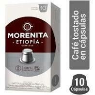 CAPSULAS DE CAFE LA MORENITA -ETIOPIA- X 10 UNIDADES.