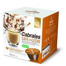 CAPSULA DE CAFE CON LECHE CABRALES (14 CAPSULAS X 6 GRS)