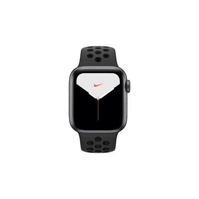 Apple Watch Nike Series 5, 40 мм, корпус из алюминия цвета «серый космос», спортивный ремешок Nike «антрацитовый/чёрный»