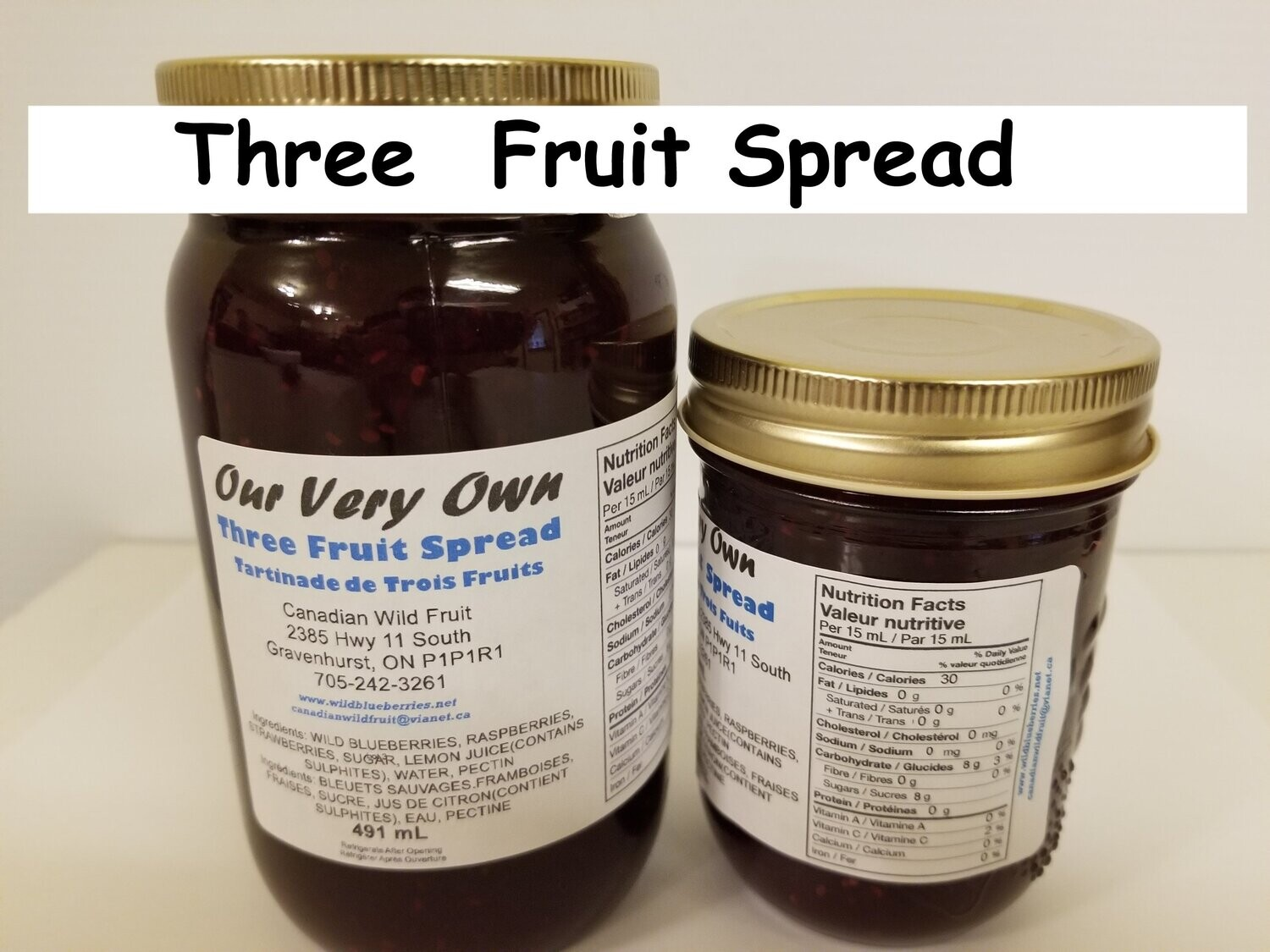 Our Very Own Fruit Spreads and Jellies, and Pepper Spreads