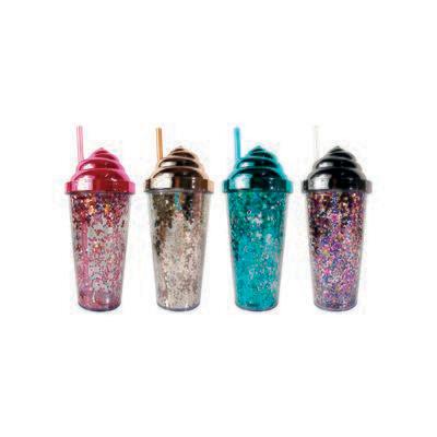 Termo de Glitter Nieve de Helado, 4 diseños.