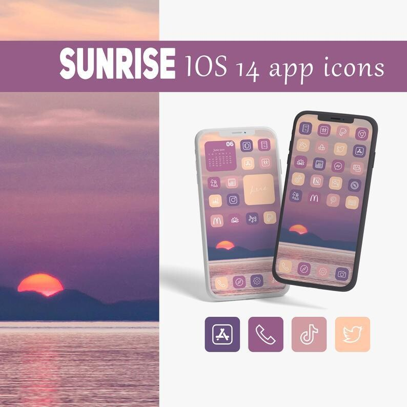 Sunrise app icons collection