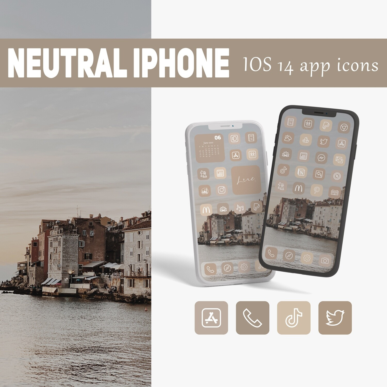 Neutral iphone ios 14 app icons