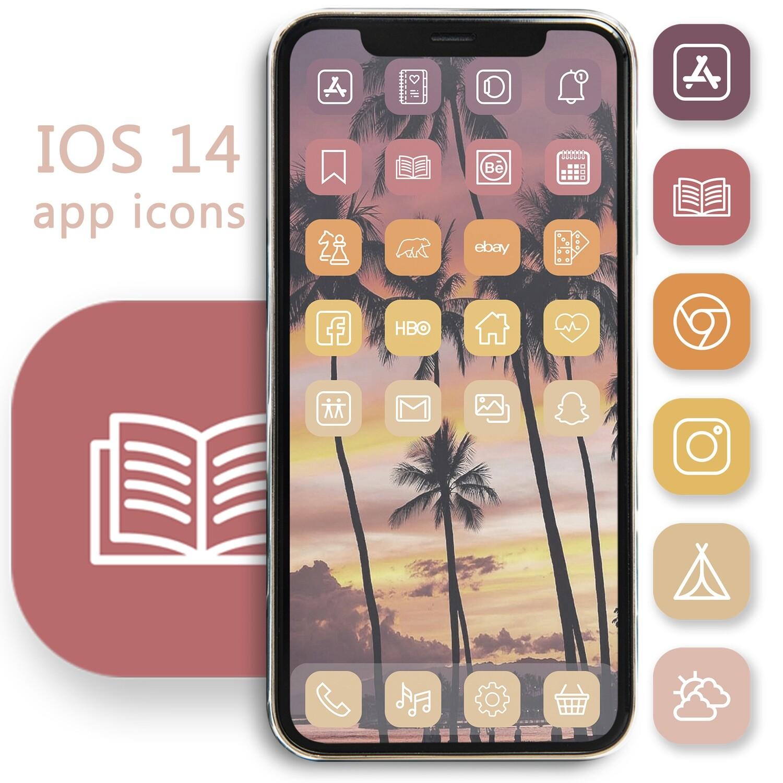 Cute summer app icons