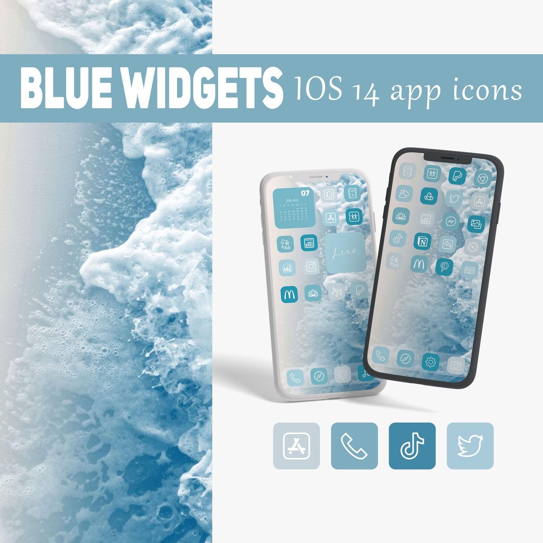 Aesthetic blue widgets