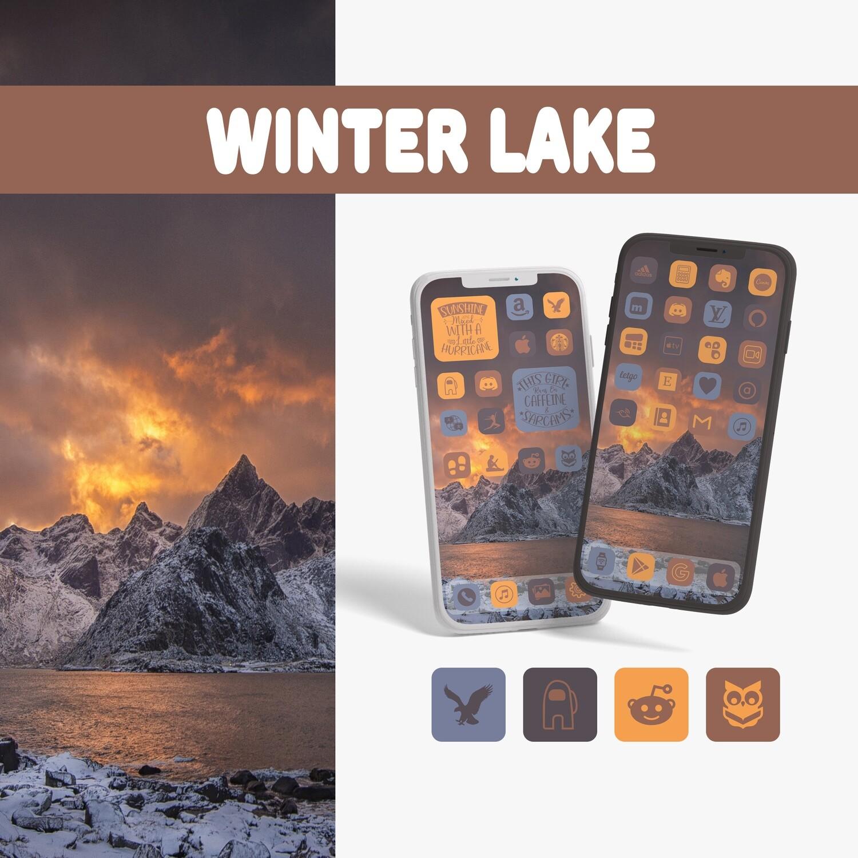 Winter lake app icons