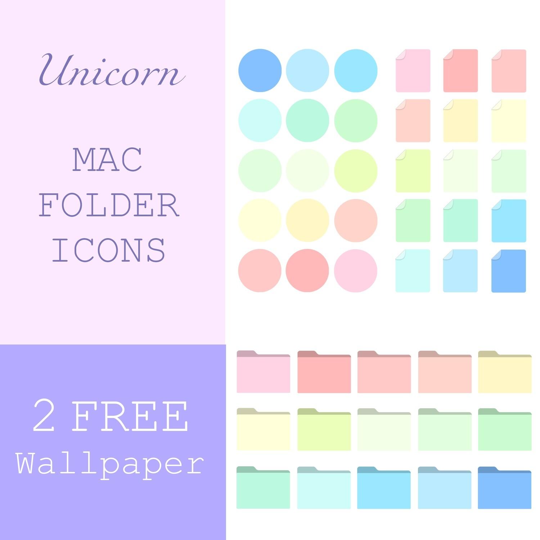 Unicorn mac folder icons