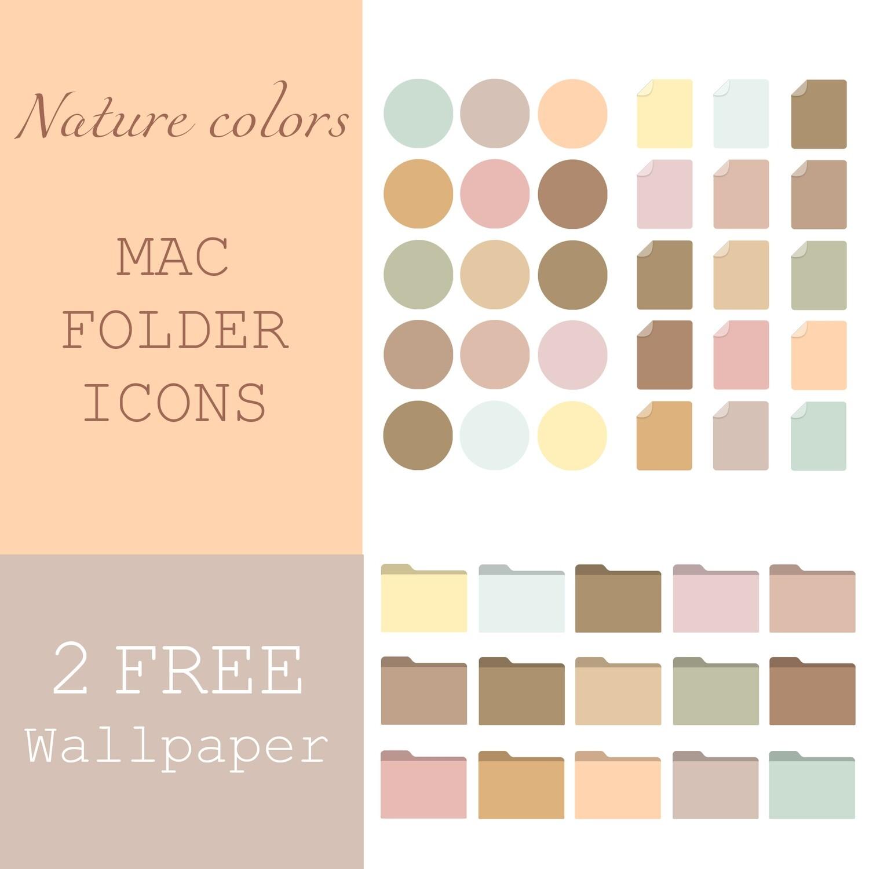 Nature colors mac folder icons