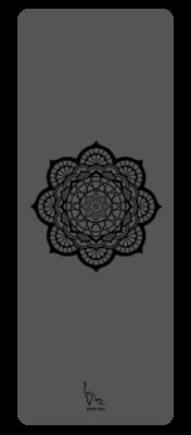Grey Mandala Yoga Mat