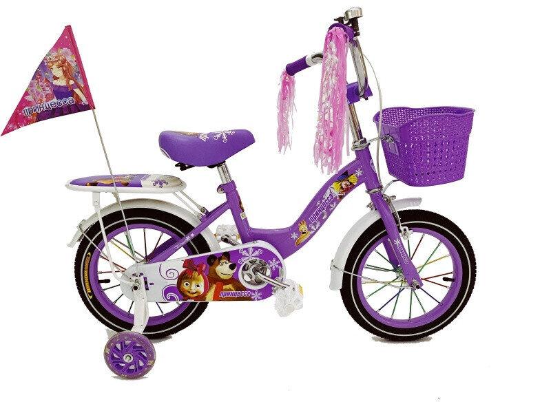 Велосипед Барс Принцесса 14 2020 фиолетовый