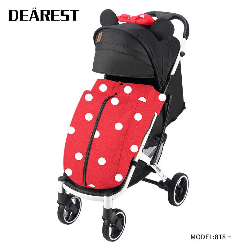 Прогулочная коляска DEAREST 818 Plus Мини Маус со светлым каркасом