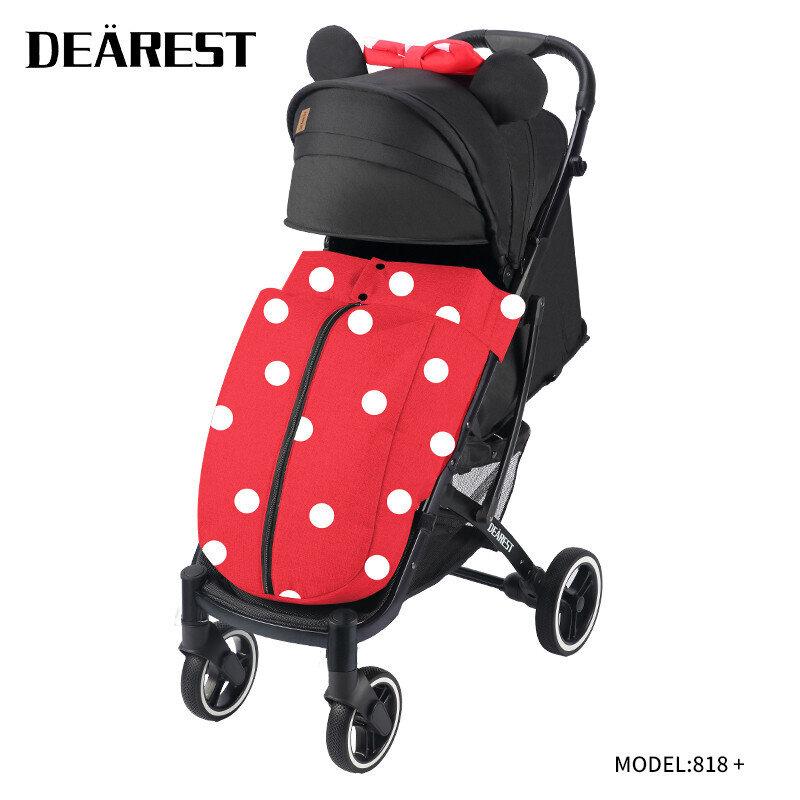 Прогулочная коляска DEAREST 818 Plus Мини Маус с темным каркасом