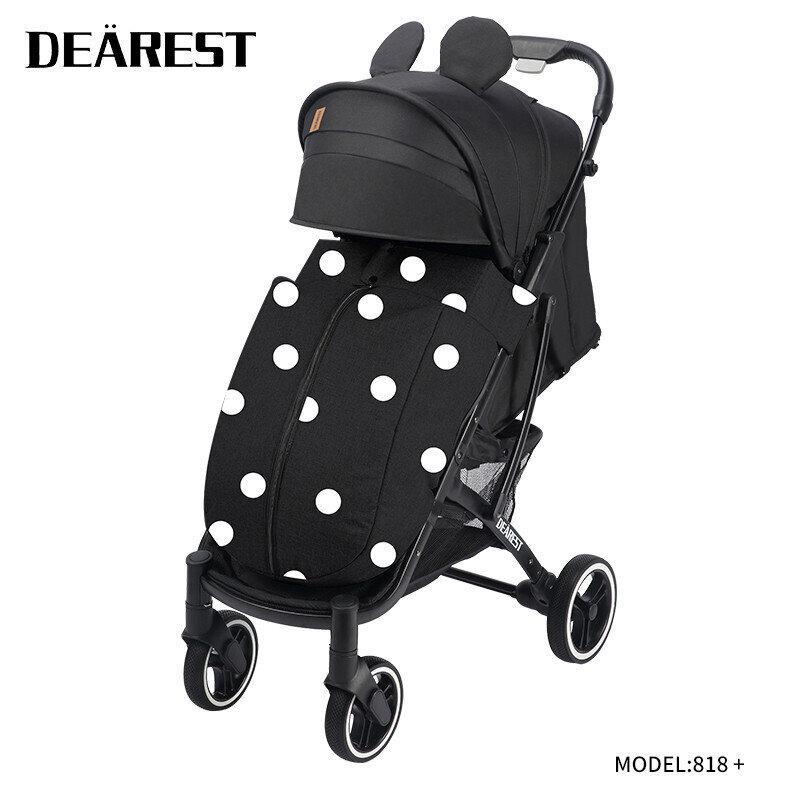 Прогулочная коляска DEAREST 818 Plus Мики Маус с темным каркасом