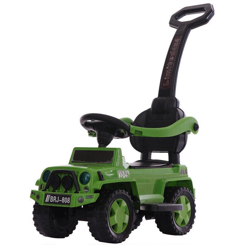 Толокар-каталка Jeep Wrangler BRJ809 3в1, зеленый