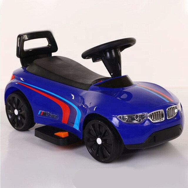 Электро толокар BMW  синий