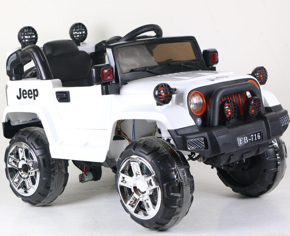 Электромобиль Jeep Wrangler FB-716 (EVA), белый