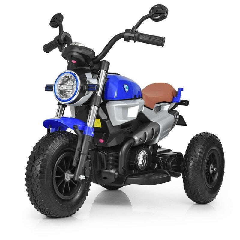 Электромотоцикл детский с надувными колесами BQ-8188, синий