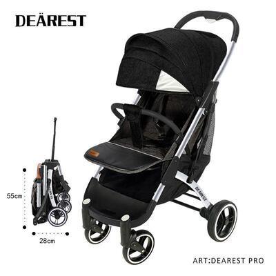 Прогулочная коляска Dearest  PRO (черная)