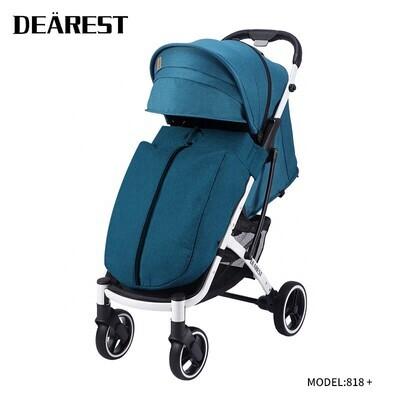 Прогулочная коляска DEAREST 818 Plus Бирюзовый со светлым каркасом